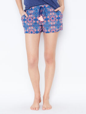 Printed pyjama shorts blue.