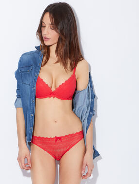 Soft bra : push up sans armatures rouge.