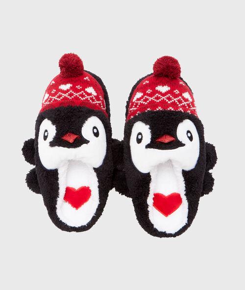 Kapcie świąteczne pingwinki