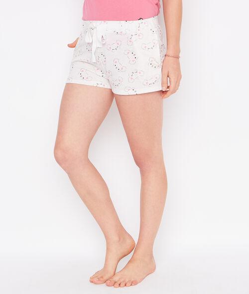Printed pyjama shorts;${refinementColor}