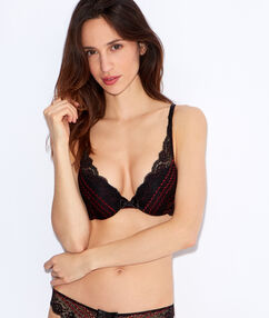 Soutien-gorge n°3 - triangle push up multicolore.