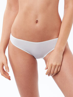 Culotte micro finition thermocollée blanc.