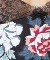 Top imprimé floral détail dentelle