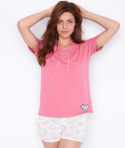 Klasyczna bluzka od piżamy;${refinementColor}