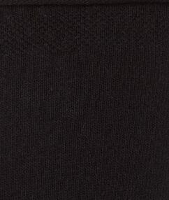 Chaussettes unies noir.