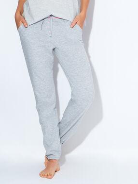 Pantalon uni gris.