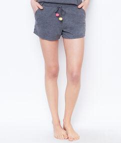 Short pompoms gris.