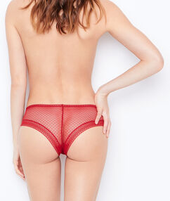 Lace hipster red.