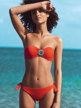 Culotte de bain bijou éthnique orange.