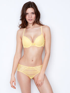 Push-up-bra yellow.