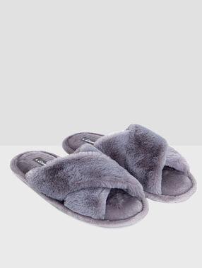 Flip flops grey.