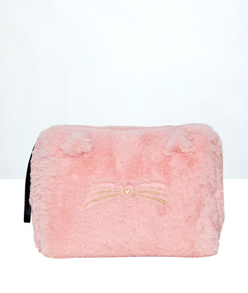 Trousse de toilette chat doudou