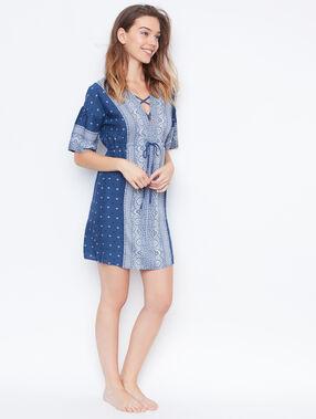 Printed nightdress blue.