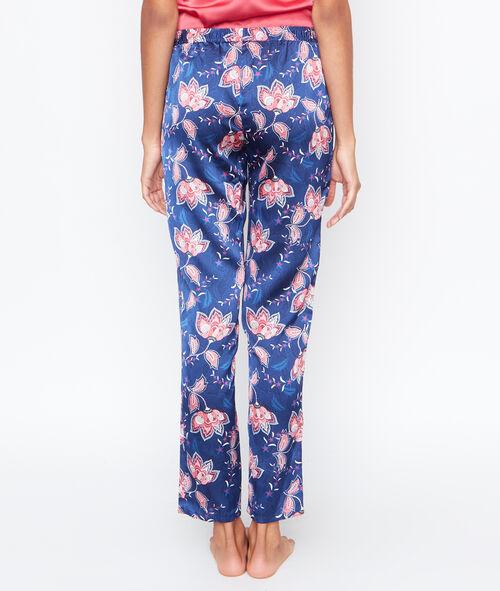 Printed satine pyjama pants;${refinementColor}
