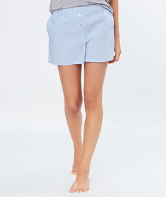 Short en viscose bleu.