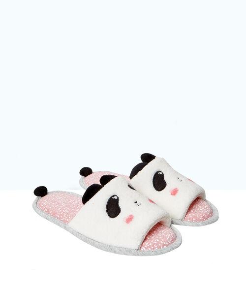 Tongs chaussons imprimées panda