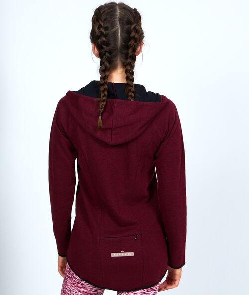 Sport zip sweater, loose shape;${refinementColor}