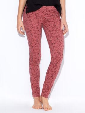 Pantalon imprimé faune, détails glitter blush.