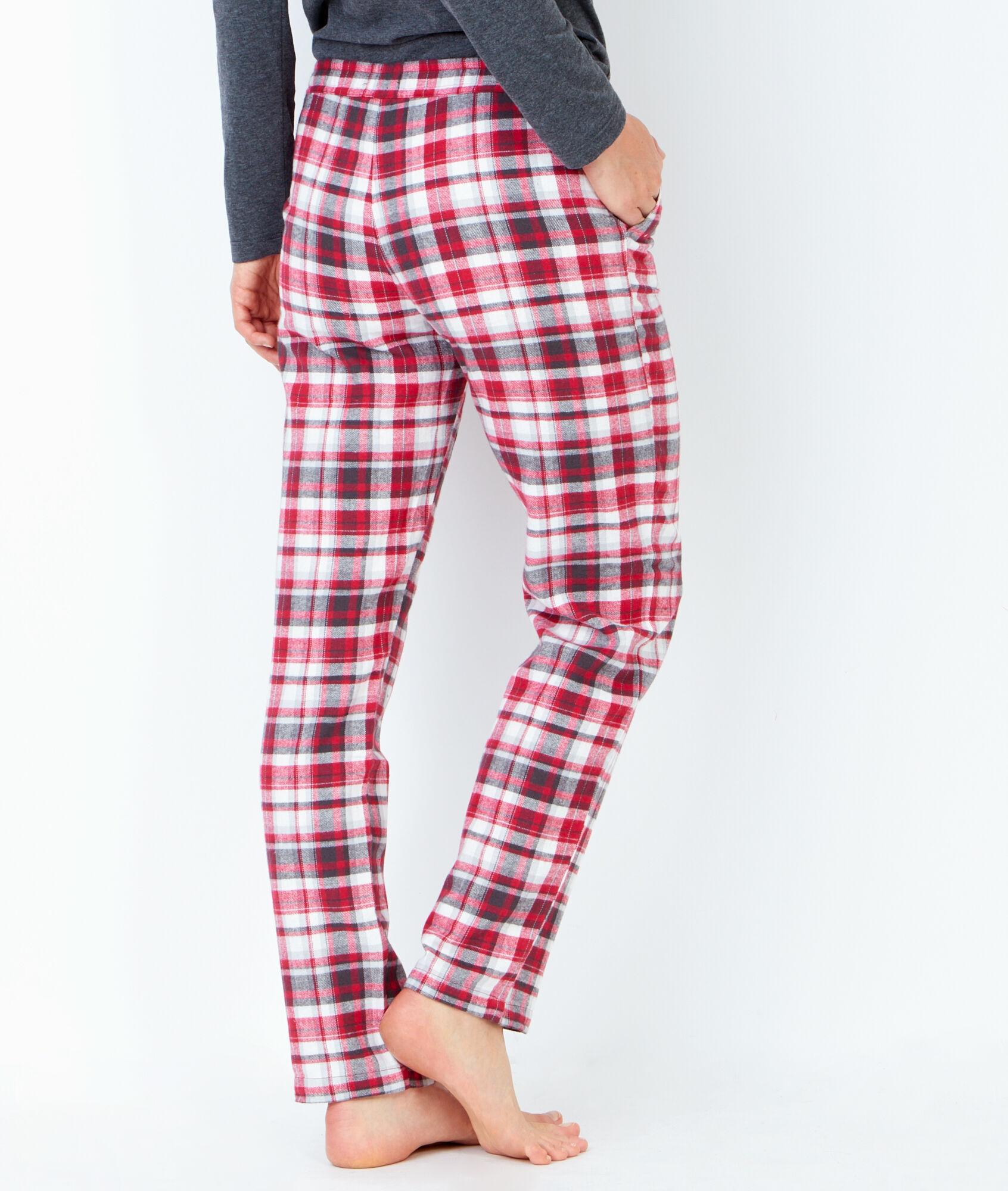 Jessica pyjama 3 pi ces pantalon carreaux et veste for Pyjama a carreaux
