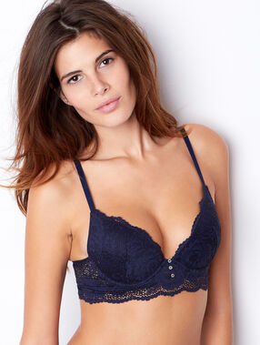 Lace push up bra blue.