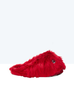 Kapcie ze sztucznego futerka rouge.