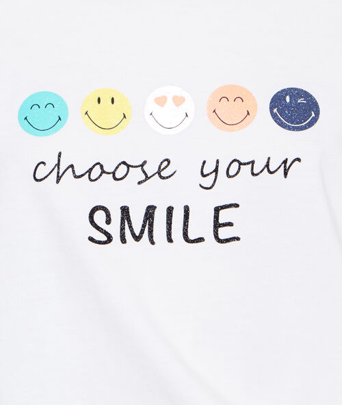 T-shirt message Smiley;${refinementColor}