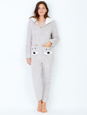 Polar jumpsuit with hood beige.