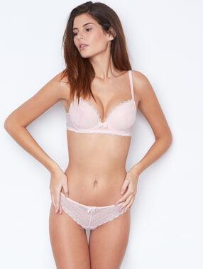 Lace tanga pink.