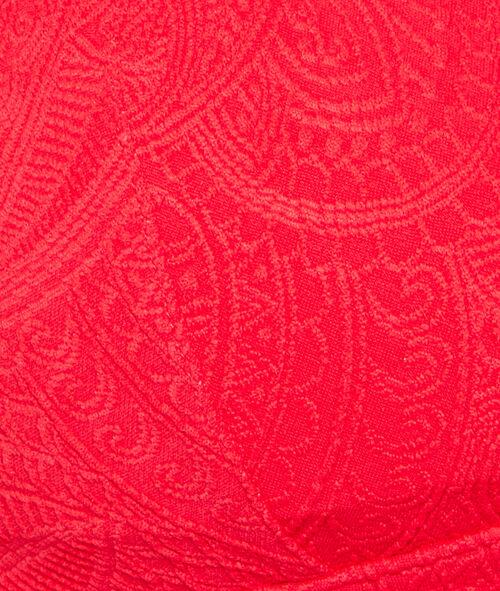 Haut de maillot de bain triangle motif cachemire sans armatures;${refinementColor}