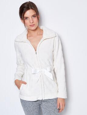 Pyjama jacken weiß.