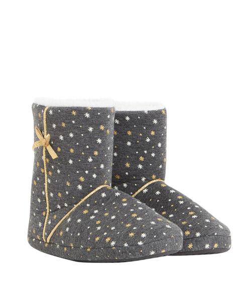 Bottines chaussons étoiles lurex