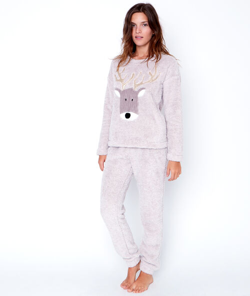 Dwuczęściowa piżama polarowa;${refinementColor}