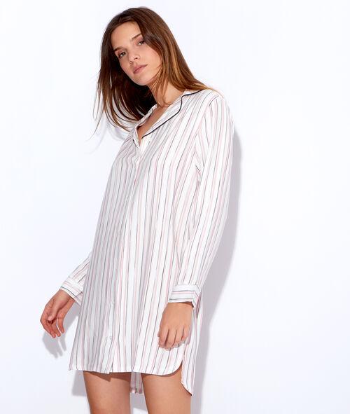 Chemise de nuit rayée en viscose