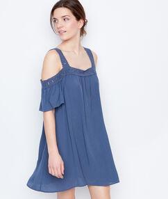 Nuisette ample épaules dénudées bleu.