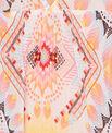 Tunique de plage imprimé multicolore bohème