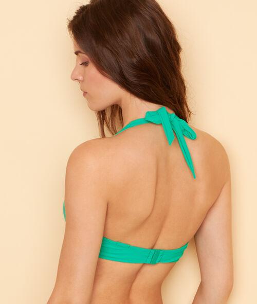 Haut de maillot de bain corbeille avec détail noeud;${refinementColor}