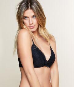 Soft bra: soutien-gorge ampliforme tout dentelle armatures souples bonnet d noir.