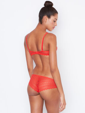Lace shorts orange.
