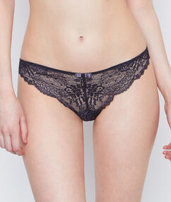 Lace tanga grey.