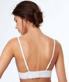 Lace triangle bra white.