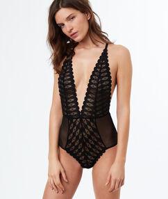 Lace bodysuit black.