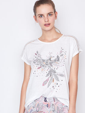 Printed top white.