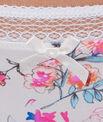 String micro imprimé fleurs et dentelle