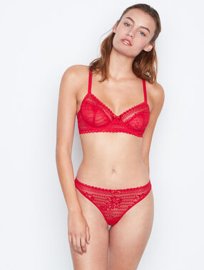Balconnette bra red.