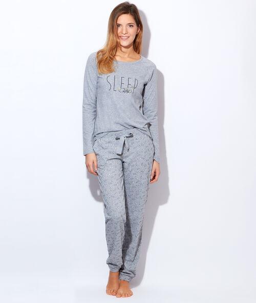 Pyjama 2 pièces imprimé panpan