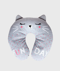 Poduszka na szyję kot gris.