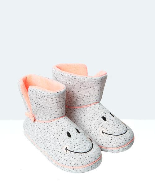 Bottines chaussons imprimées et fourrées, multipositions