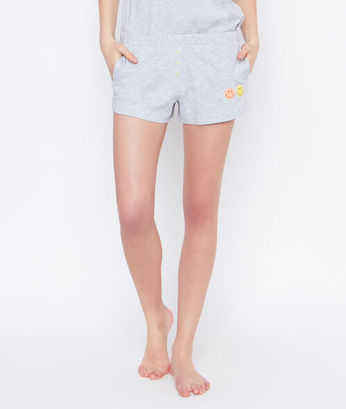 Smiley printed pyjama short;${refinementColor}