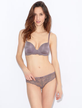 Soft bra : push up sans armatures argile.