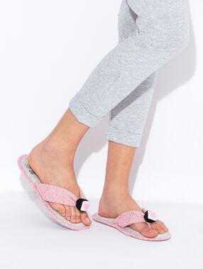 Tongs chaussons, détail maki 3d gris.